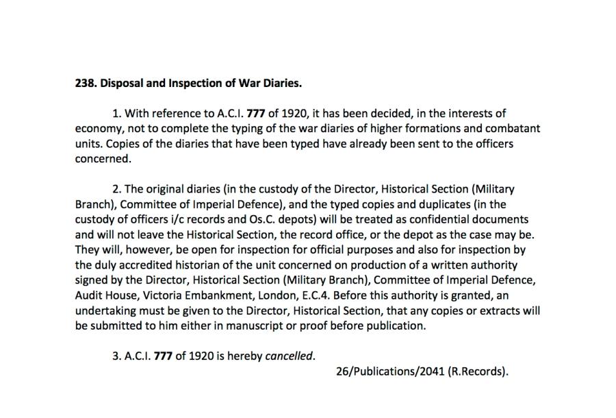 War Diaries ACIs2