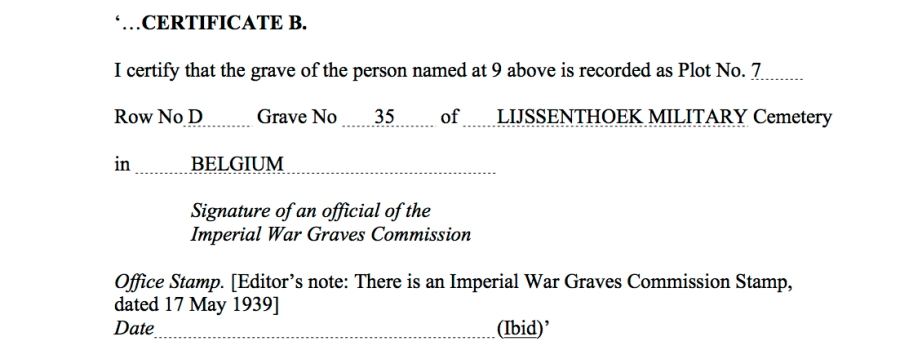 War Graves Passes – Laissez Passer copy