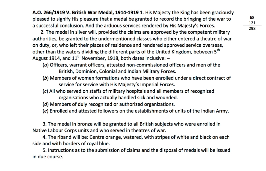 Medals ACIs and AOs 23