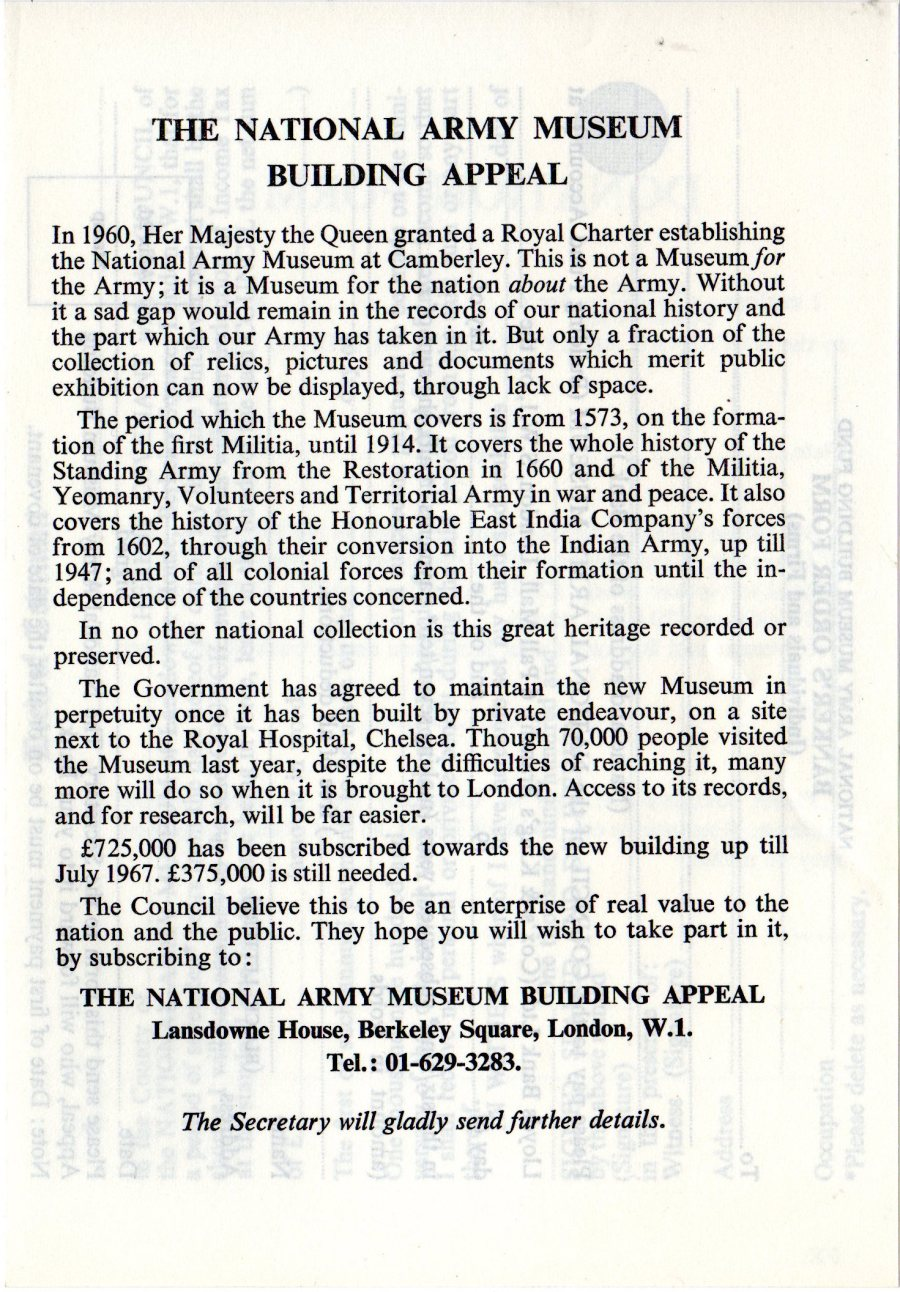 The National Army Museum Building Appeal