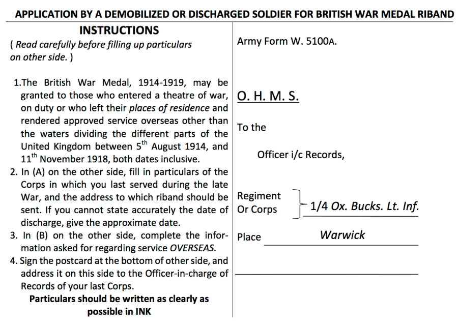 The Forgotten Ww1 Medal Cards War Records Revealed