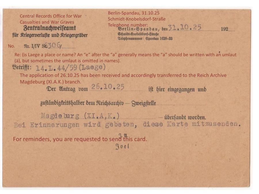 ZAK 1925 Postcard Back