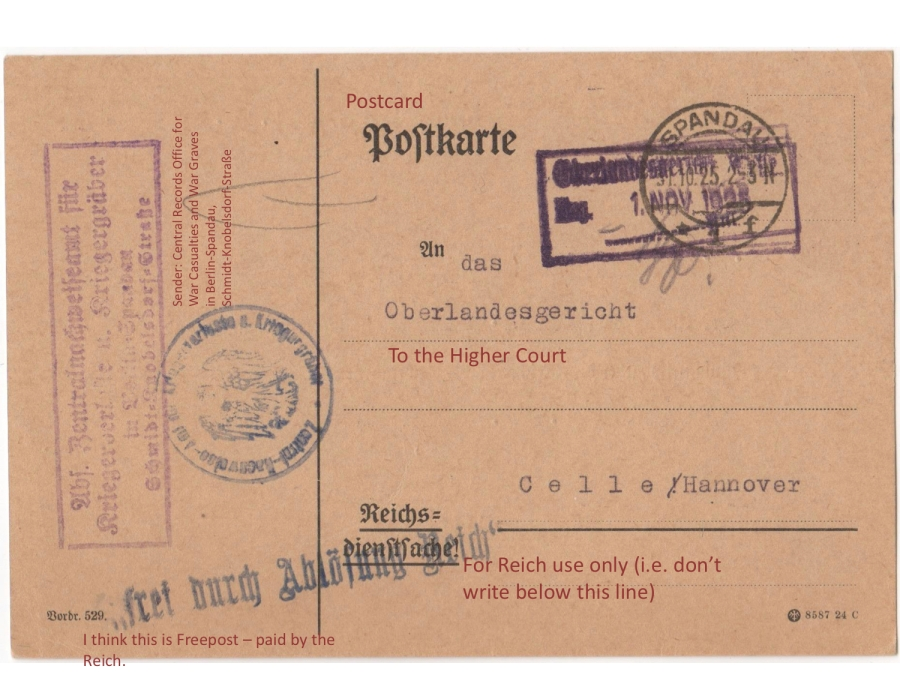 ZAK 1925 Postcard Front